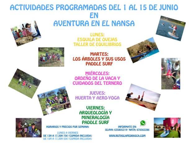 actividades Junio Aventuras en el Nansa